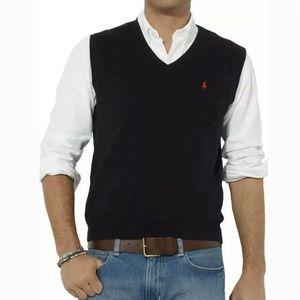 Polo Ralph Lauren   Sweater Vest V Neck Black